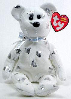 Creamy, Ty Beanie Baby bear, reference information and photograph. Beanie Baby Bears, Ty Beanie Boos, Teddy Bear Cartoon, My Teddy Bear, Ty Babies, Beenie Babies, Cool Beanies, Ty Bears, Hello Kitty Characters