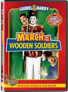 DVD, March of the Wooden Soldiers, starring Laurel and Hardy, Hal Roach Studios, black and white, colorized #stanlaurel #oliverhardy http://laurel-and-hardy.net/laurel-and-hardys-march-of-the-wooden-soldiers-aka-babes-in-toyland-1934/