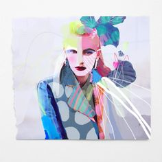 fashion illustration + collage on paper / erin flannery [erinart.net]