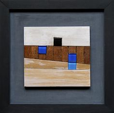 Landscape with blue is a creation by the artist Maciej Lasota. hand-made relief / mosaic. Ceramic Wall Art, Woodworking Projects Diy, Diy Frame, Decoration, Wood Art, Amazing Art, Paper Art, Glass Art, Arts And Crafts