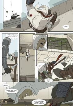Just another day in you're chased to death but bureau chiefs not letting you in. Again I asked to write a story from an idea I had and she wrote a . Serves You Right (Page 3 of Assassins Creed Comic, Assassins Creed Series, All Assassin's Creed, Assian Creed, Cry Of Fear, Gamers, Comic Page, Page 3, Manga