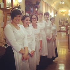 Our lovely servers at The St. James Tearoom!