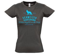 T-Shirt Women Hunde SCHWEIZER SCHÄFERHUND Vintage Logo Siviwonder bis XXL/42