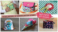Schulanfang & Kindergarten-Start (Set mit 6 PDF-E-Books) Nähanleitungen und Schnittmuster von shesmile