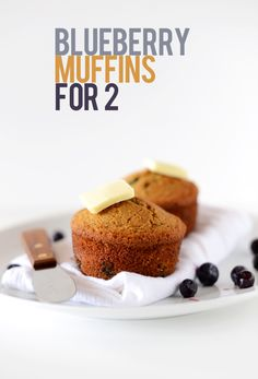Blueberry Muffins for 2!! Vegan