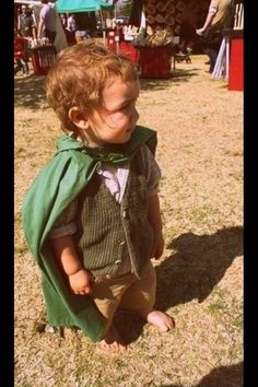 Little hobbit costume... my little man can wear this whenever he wants. Adorable!