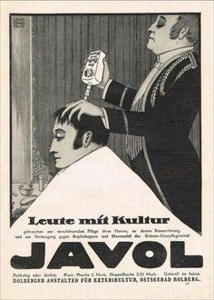 Barbier-Frisoer-JAVOL-Werk-Ostseebad-Kolberg-1913-Reklame-advertising-Werbung-ad