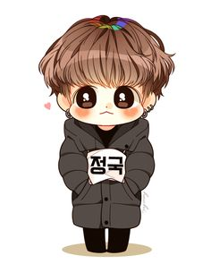 Jeonguk! Jungkook! Kookie~ Chibi Bts, Anime Chibi, Jungkook Fanart, Kpop Fanart, Bts Drawings, Kawaii Drawings, Cartoon Wallpaper, Bts Wallpaper, Bts Pictures