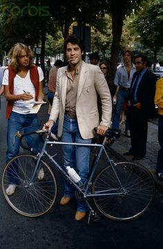 John Travolta rides...