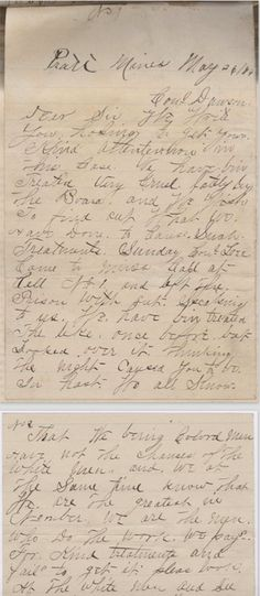 Letter from Ezekiel Archey and Ambrose Haskins, convict laborers at Pratt Mines in Jefferson County, Alabama, to Reginald Dawson, president of the Alabama Board of Inspectors of Convicts. - http://digital.archives.alabama.gov/cdm/ref/collection/voices/id/5417