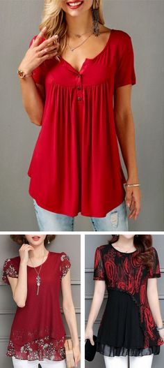 Cute short sleeve blouse for women at Rosewe.com, free shipping worldwide, check them out. %5 off over $59.