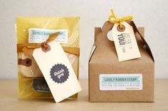 packaging solutions by Oh Hello Friend #packaging #stamps #diy