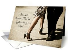 National Dance Teacher Appreciation Day Tango Legs card by M. Rosso