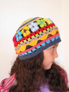 colourful crochet hat