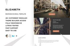 Elizabeth – Email template + Builder by ThemesCode on @creativemarket  #email #templates #newsletters #signatures #letters #Photoshop #website #web #websitedesign #seo #design #logo #font #free