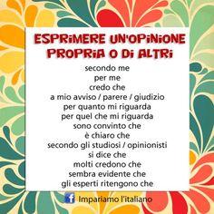 Come si esprime l'opinione in italiano?Perfeziona il tuo italiano con www.impariamoitaliano.com