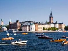 """The scenic small island in central Stockholm is part of Gamla stan, the """"old town,"""" a well-preserved medieval city with narrow alleys and cobblestone streets."""