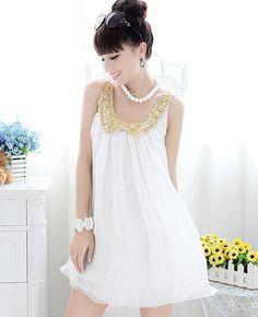 Nova verão mulheres grávidas vestido de maternidade Casual maternidade vestido sem mangas Chiffon branco 63