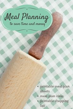 set of printable meal plans shopping list