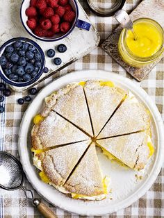 This American-style shortcake recipe is just as irresistable for afternoon tea as it is for dessert. Experiment with other curd flavours, such as lime, passion fruit and grapefruit.