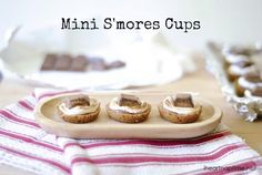 Mini s'mores cups ...YUM! Perfect for summer!
