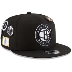 80617059ff3 Men s Brooklyn Nets New Era Black 2018 Draft 9FIFTY Adjustable Hat