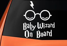 Baby On Board Harry Potter Inspired Car Sticker - Vinyl Decal - Baby Wizard On Board by Vinyl33Decals on Etsy https://www.etsy.com/listing/448655502/baby-on-board-harry-potter-inspired-car