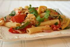 Ziti with Roasted Summer Vegetables | Healthy Mediterranean Recipes