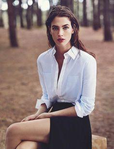 Le parfait look noir et blanc #58 (photo Vogue Australie)