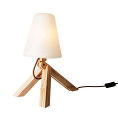 Spiff bord/Lampe, Hvit /Tre - Lars Olav Dybdal & Wilhelm Grieg Teisner - Northern Lighting - RoyalDesign.no