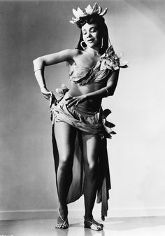 at left: Katherine Dunham in Rara Tonga from the show Tropical Revue (1943), choreographed by Dunham. During her travels, she learned traditional dances and rituals, which she incorporated into her company's performances. (Photograph from the Dance Division, New York Public Library for the Performing Arts, Astor, Lenox, and Tilden Foundations.)
