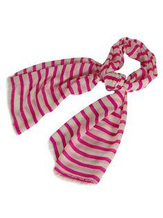 Echo Design Women's Acrylic Fiber Striped Scarf (Pink, OS)