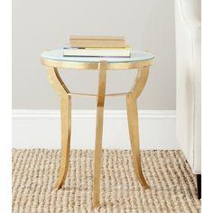 Safavieh Treasures Ormond Gold/ White Top Accent Table $140