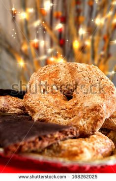 Cookie typical Neapolitan Christmas season called roccoco by enzodebernardo, via ShutterStock