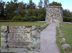 Memorial Cairn - Drumossie Moor -  Battle of Culloden 1746