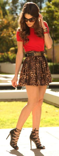Leopard & Red ♥