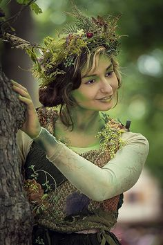 Make-up Dryad Incredible BRF 2014 - Design Your Personal Marriage ceremony Costume Renaissance, Renaissance Fair, Halloween Makeup, Halloween Costumes, Fairy Costumes, Anime Halloween, Halloween Hair, Woodland Fairy Costume, Woodland Fairy Makeup