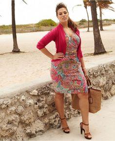 Vestito multicolor per Ashley Graham