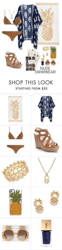 """""""Pineapple ❤️"""" by destitutediva ❤ liked on Polyvore featuring Zimmermann, Jennifer Lopez, INC International Concepts, Casetify, Bing Bang, Gucci, Yves Saint Laurent and Flash Tattoos"""