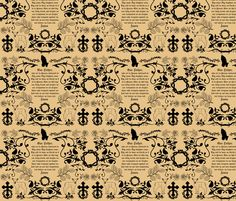The Lord's Prayer toile fabric by magneticcatholic on Spoonflower - custom fabric