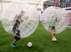 Bubble Football revealed as hilarious new game that puts soccer players inside bouncing, inflatable suits - NY Daily News