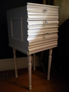 DIY bedside table