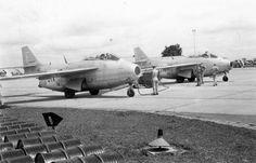 """UN 22 fighter wing, SAAB J29B """"Tunnan"""", combat combat ready in Kongo 1961–1963."""