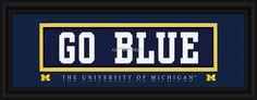 Michigan Wolverines Print Slogan Style Stitched Uniform Go Blue
