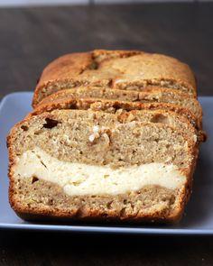 Baileys Banana Bread - replace banana bread with cinnamon loaf, keep cream cheese filling