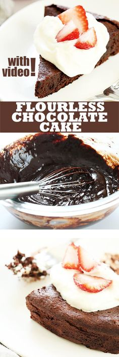 Come see how easy it is to create your very own flourless chocolate cake at home. No special ingredients or equipment. With VIDEO!
