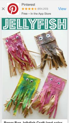 55 beach theme preschool activities - Paper bag jellyfish science for preschoolers preschool activities preschool crafts kindergarten. Sea Animal Crafts, Animal Crafts For Kids, Toddler Crafts, Art For Kids, Preschool Animal Crafts, Beach Crafts For Kids, Summer Crafts For Preschoolers, Preschool Summer Crafts, Under The Sea Crafts