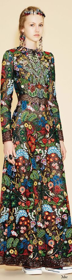 Resort 2016 #Valentino - this dress is such a #beautiful take on Nature! #Exquisite