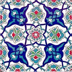 Turkish ottoman style Iznik Ceramic 4 pcs Turkish Ceramic