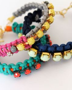 Lotts and Lots | A Modern Jewellery Making Blog : DIY - cord and jewel bracelet